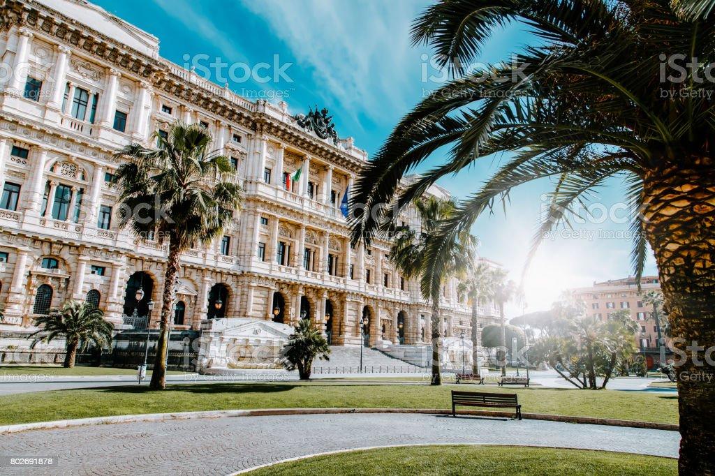 Corte Suprema di Cassazione view from Piazza Cavour. Rome, Italy stock photo