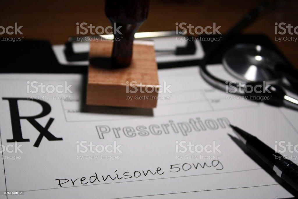 corticosteroid drug stock photo