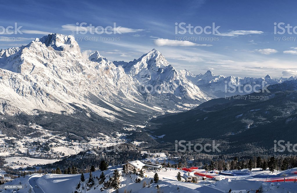 Cortina d'Ampezzo stock photo