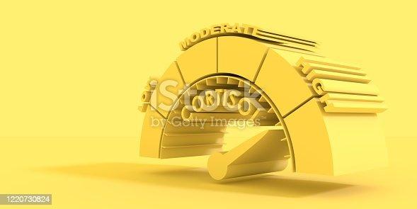 istock Cortisol level measuring 1220730824