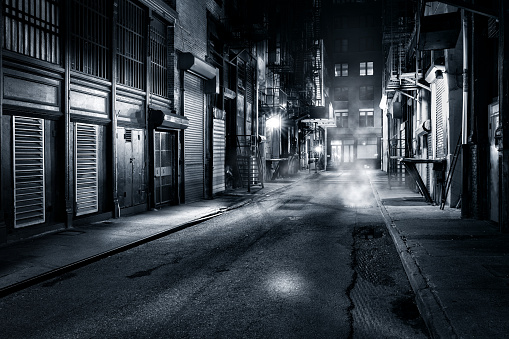 Cortlandt Alley By Night In Nyc Stock Photo - Download Image Now