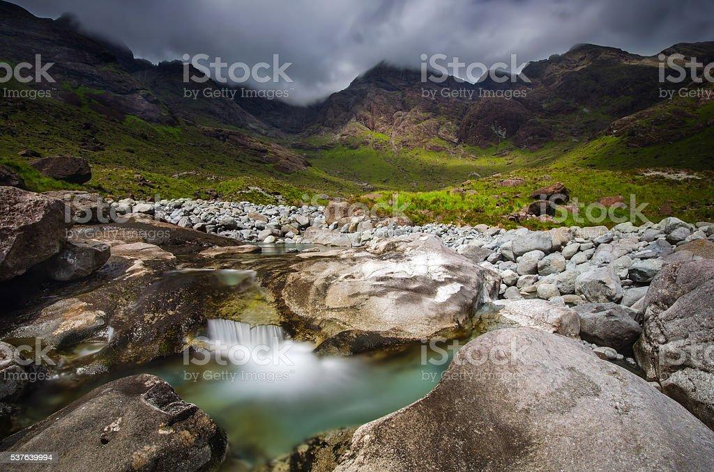 Coruisk River stock photo