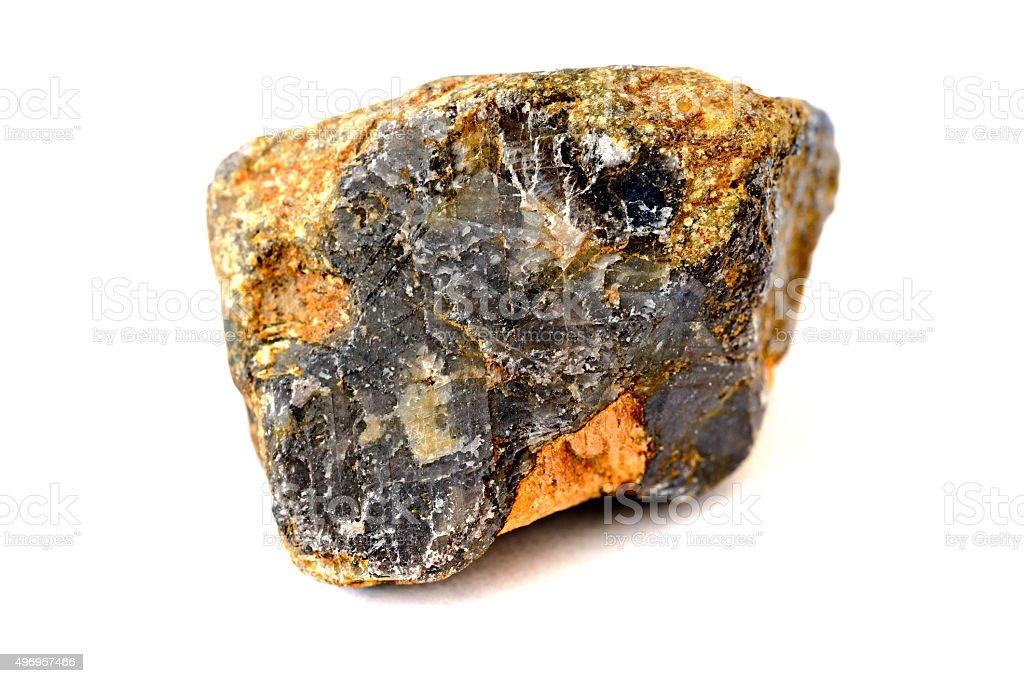 corundum rock isolated on white stock photo
