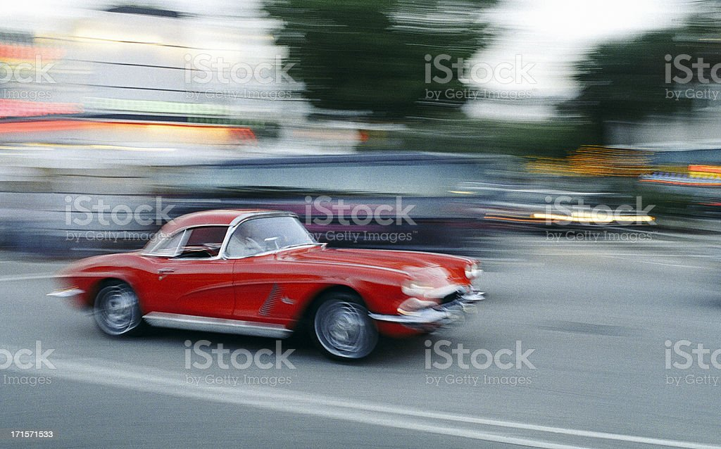 Corvette 1962 stock photo