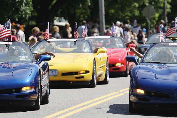 Corvette Club in der 4. Juli Parade in Rochester, New York – Foto
