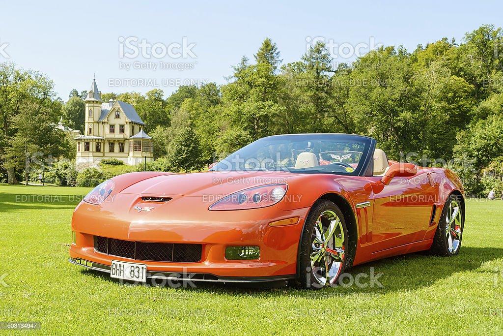 Corvette grand sport stock photo