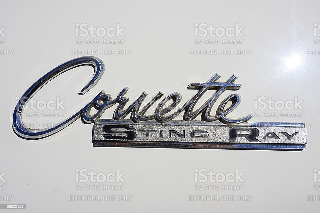 Corvette Sting Ray Emblem royalty-free stock photo