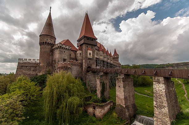 corvin castle in romania - romania stock photos and pictures