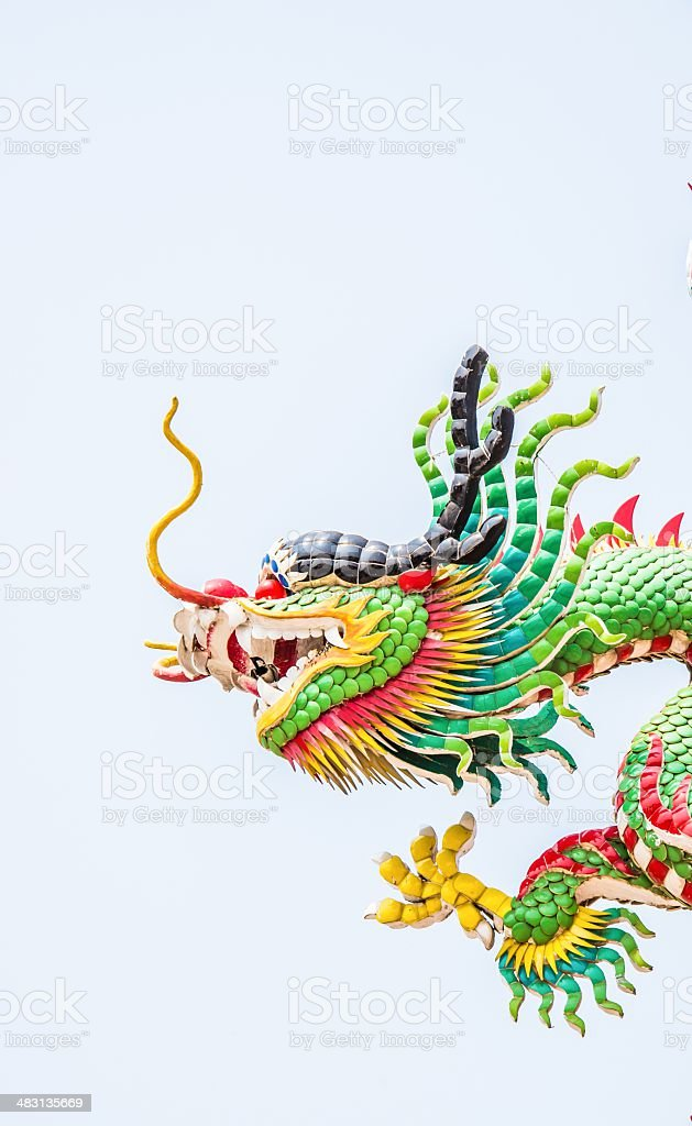 Cose up Chinese style dragon statue royalty-free stock photo