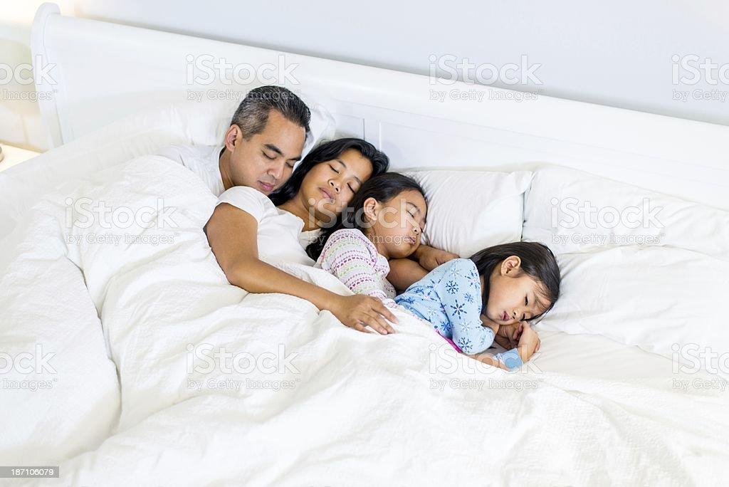 Co-sleeping stock photo