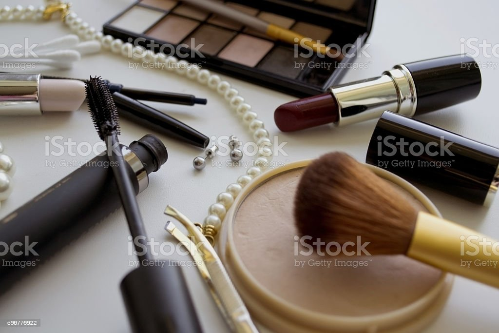 various cosmetic accessories for women