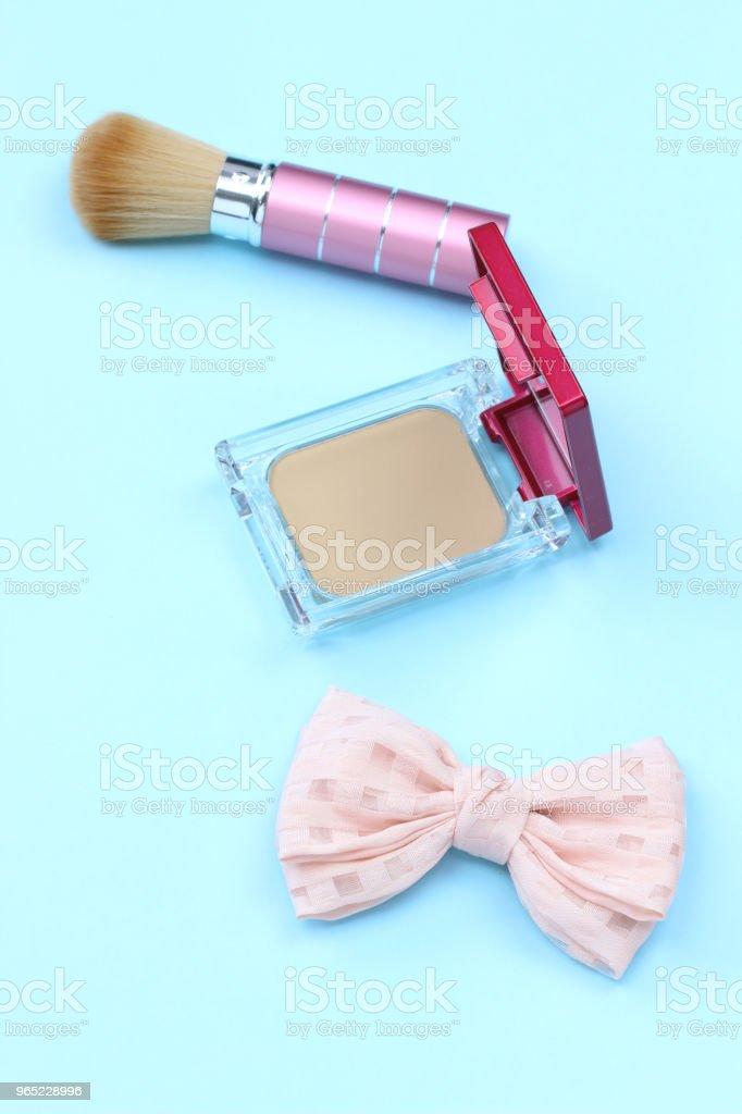 Cosmetic and ribbon zbiór zdjęć royalty-free