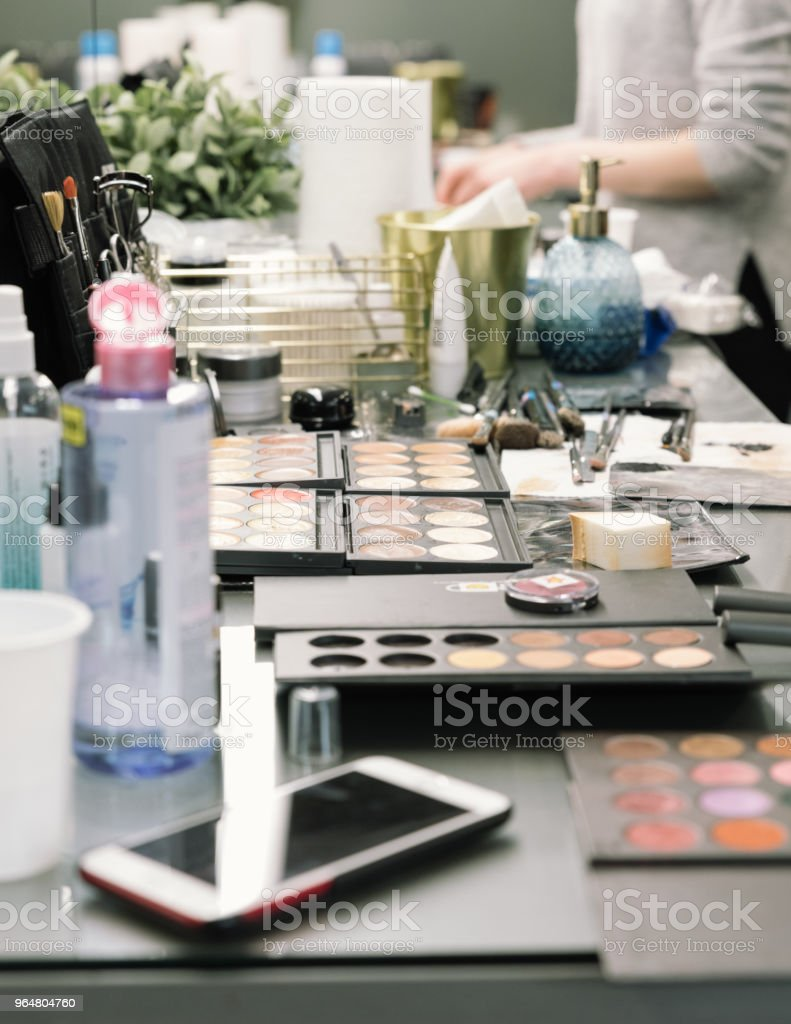 Cosmetic and tools of professional makeup artist. royalty-free stock photo