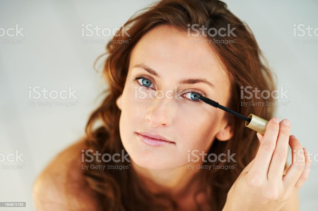 Cosmetic applicator stock photo