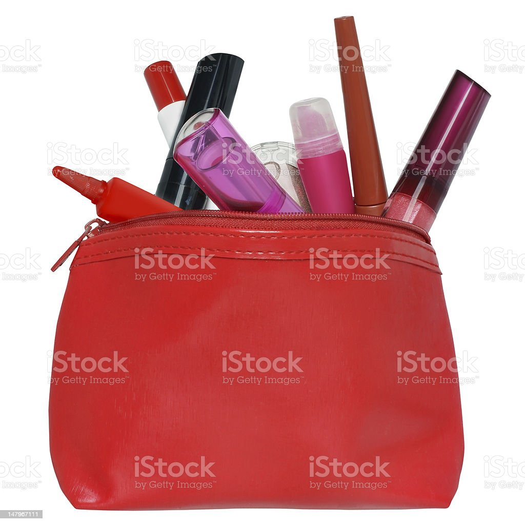 Cosmetic bag. royalty-free stock photo