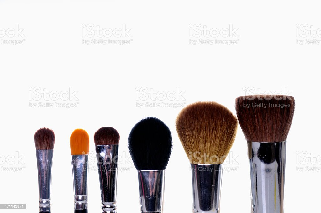 Cosmetic Brushes royalty-free stock photo