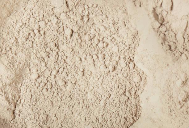 kosmetische clay powder - peeling herstellen stock-fotos und bilder