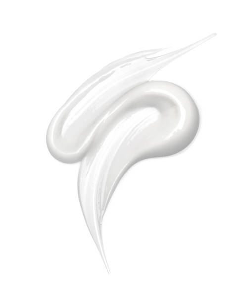 화장품 크림 흰색 절연 - 크림 유가공 식품 뉴스 사진 이미지