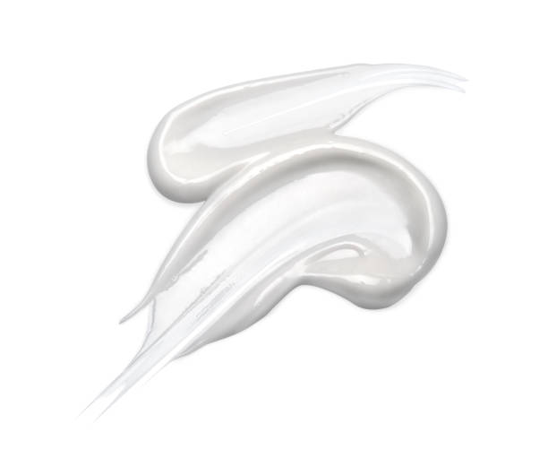 crème cosmétique isolé sur white - crème sucrée photos et images de collection