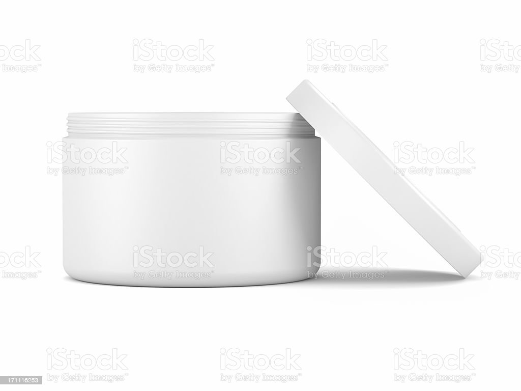 Cosmetic face cream container stock photo