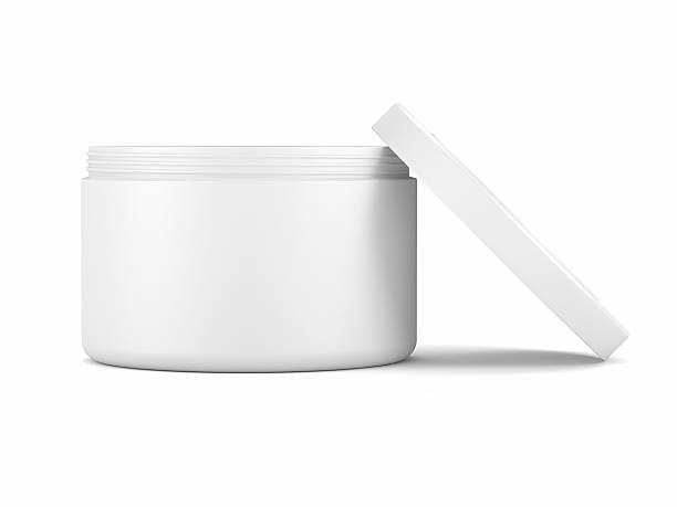 kosmetische gesichtscreme-behälter - peeling herstellen stock-fotos und bilder