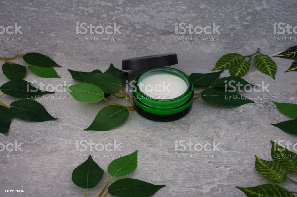 Cosmetic Facial Cream On Grey Background Skincare Cream Facial Beauty Cosmetic Spa Product Natural Cosmetology Concept Facial Skin Treatment Stock Photo Download Image Now Istock