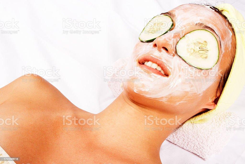 Cosmetic facial mask royalty-free stock photo