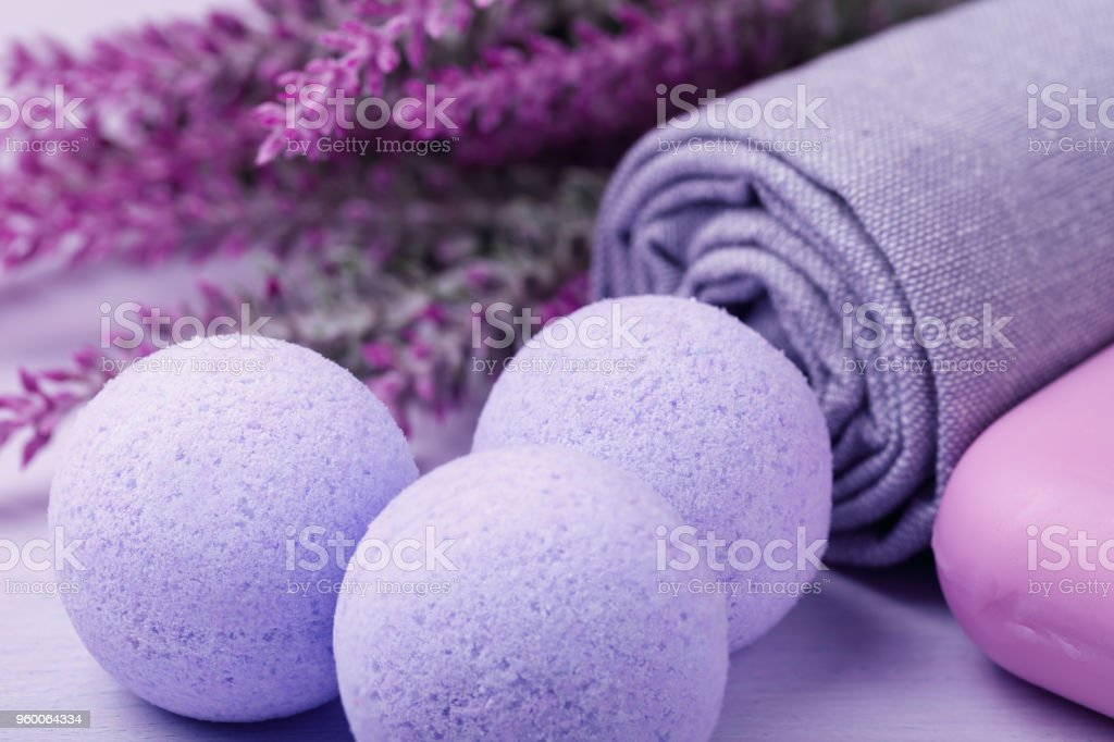 Cosmetic for skin care, effervescent salt with the effect of hydromassage stock photo