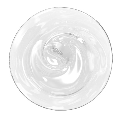 3d rendering cosmetic gel isolated on white