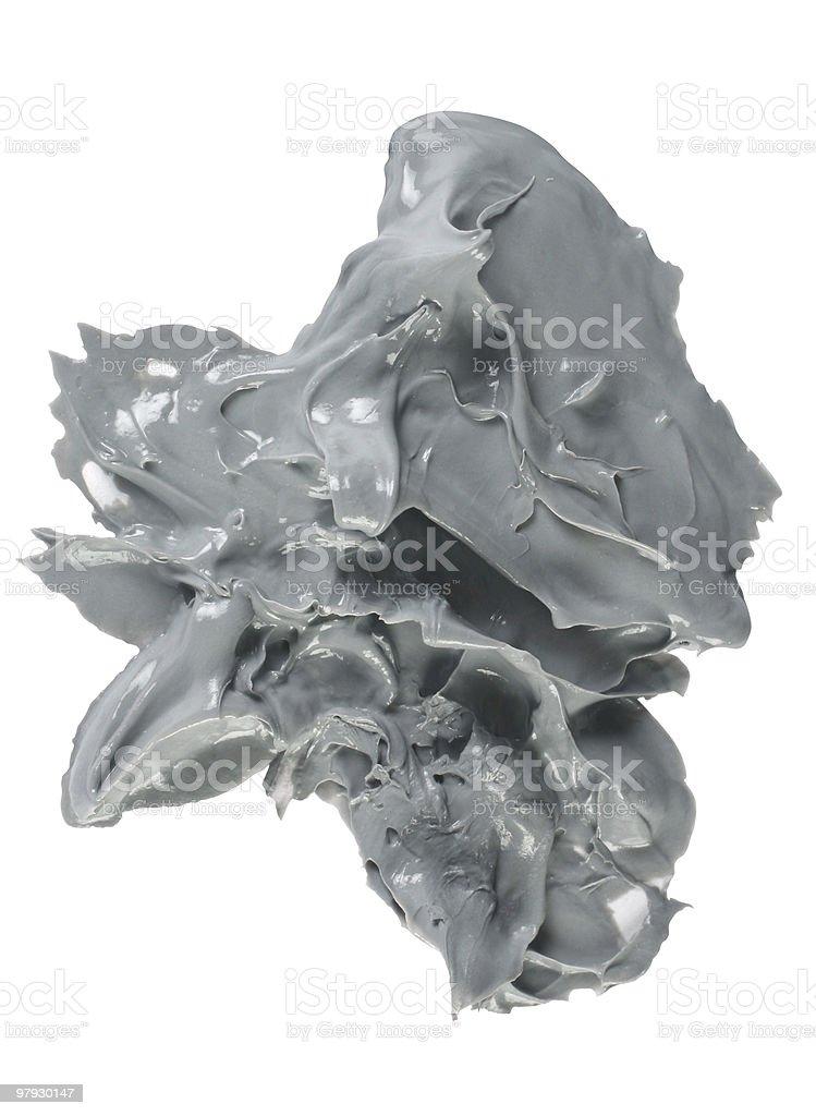 Cosmetic gray blot royalty-free stock photo