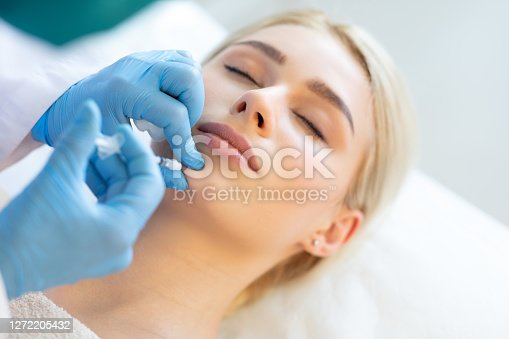 Cosmetic injection of botox