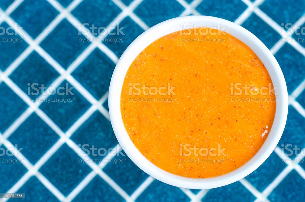 Cosmetic mask (scrub) in a bowl stock photo