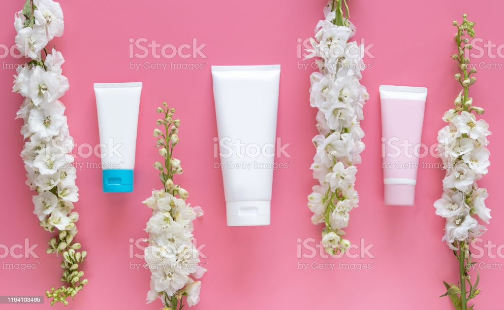 cosmetic nature organic beauty skincare concept. cosmetic tube...