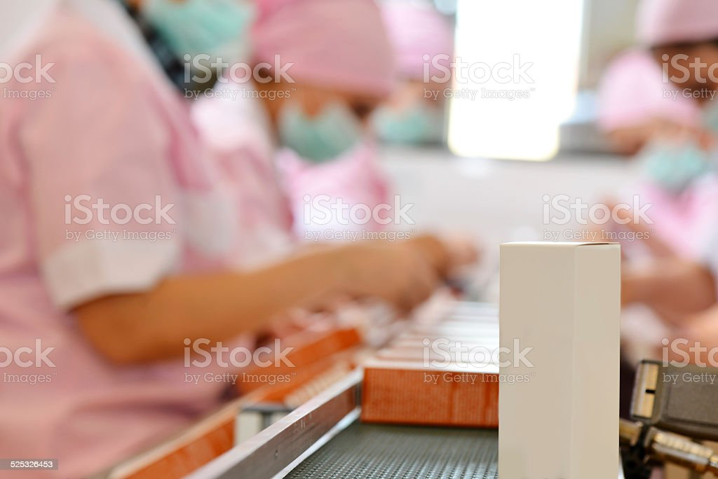 Cosmetic packaging stock photo