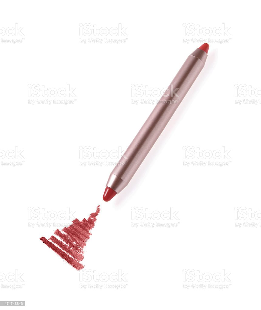 Cosmetic pencil and stroke royalty-free stock photo