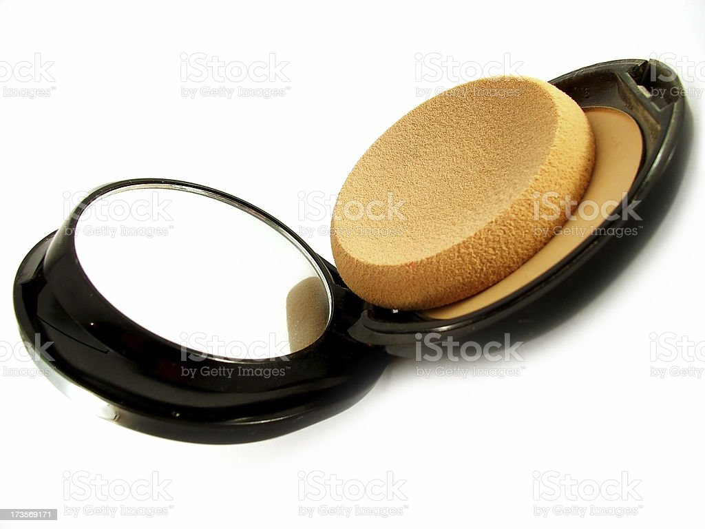 Cosmetic Powder Compact stock photo