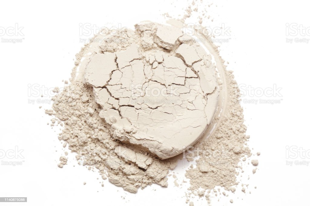 Cosmetic powder isolated on white background - Zbiór zdjęć royalty-free (Abstrakcja)