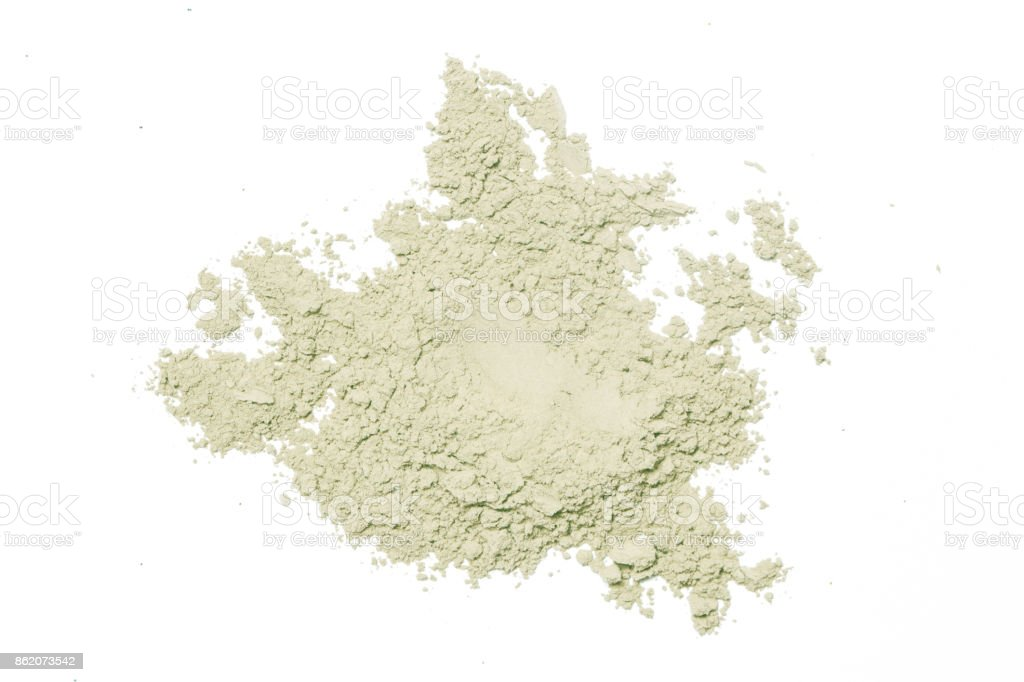 Cosmetic powder isolated on white stock photo