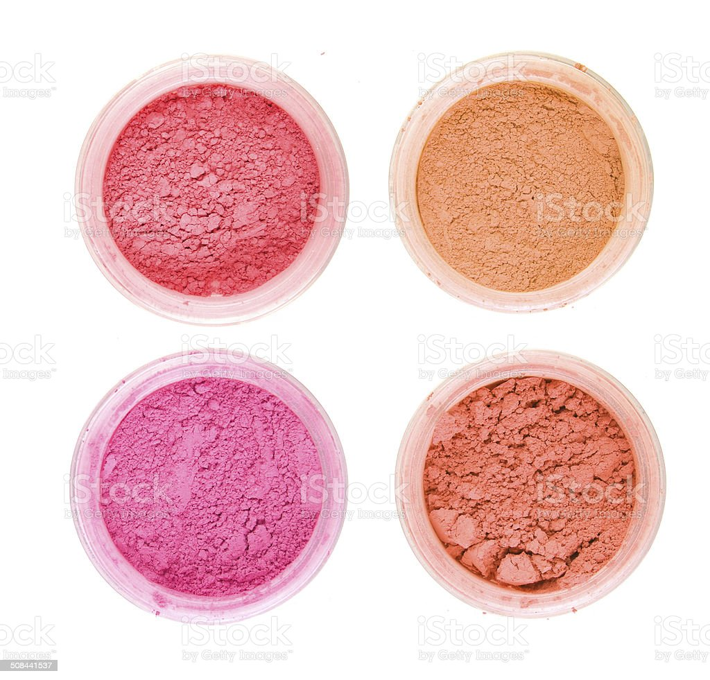 Cosmetic powder stock photo