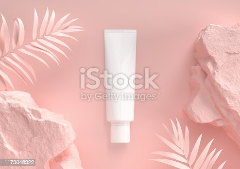 Cosmetic Premium skin care moisturizing. 3d render.