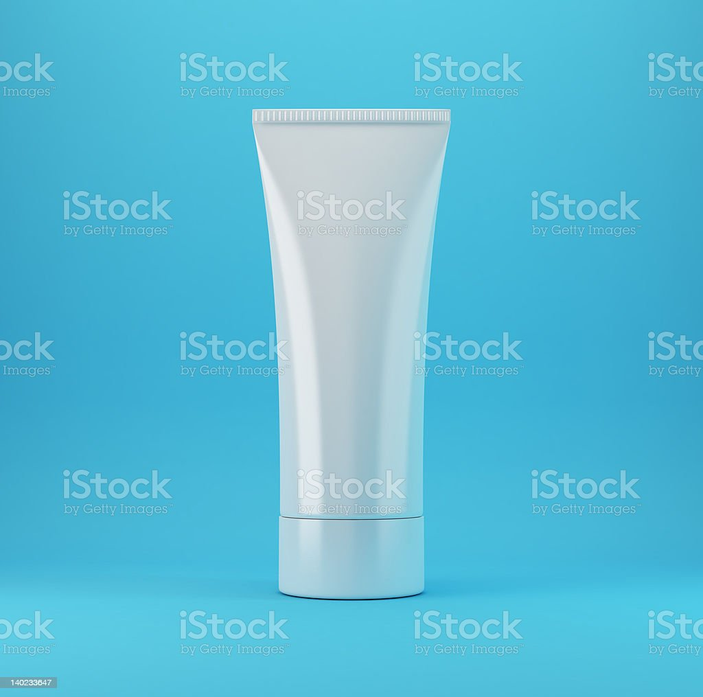 Cosmetic Products 1 - Blue royalty-free stock photo