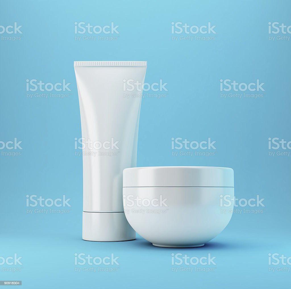 Cosmetic Products 2 - Blue royalty-free stock photo