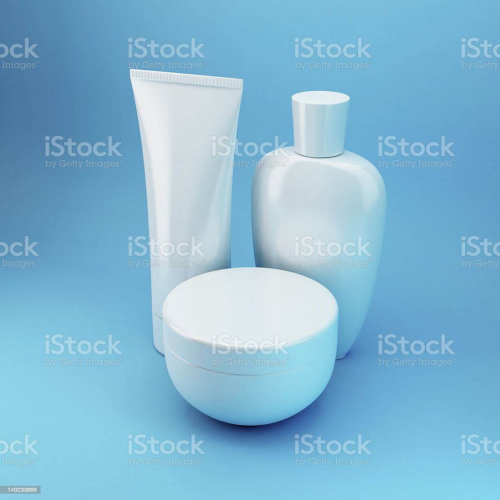 Cosmetic Products 6 - Blue stock photo