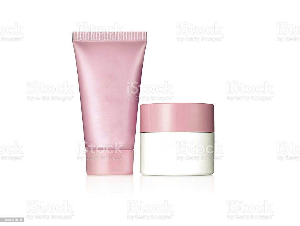 Cosmetic products, with no brand, stock photo