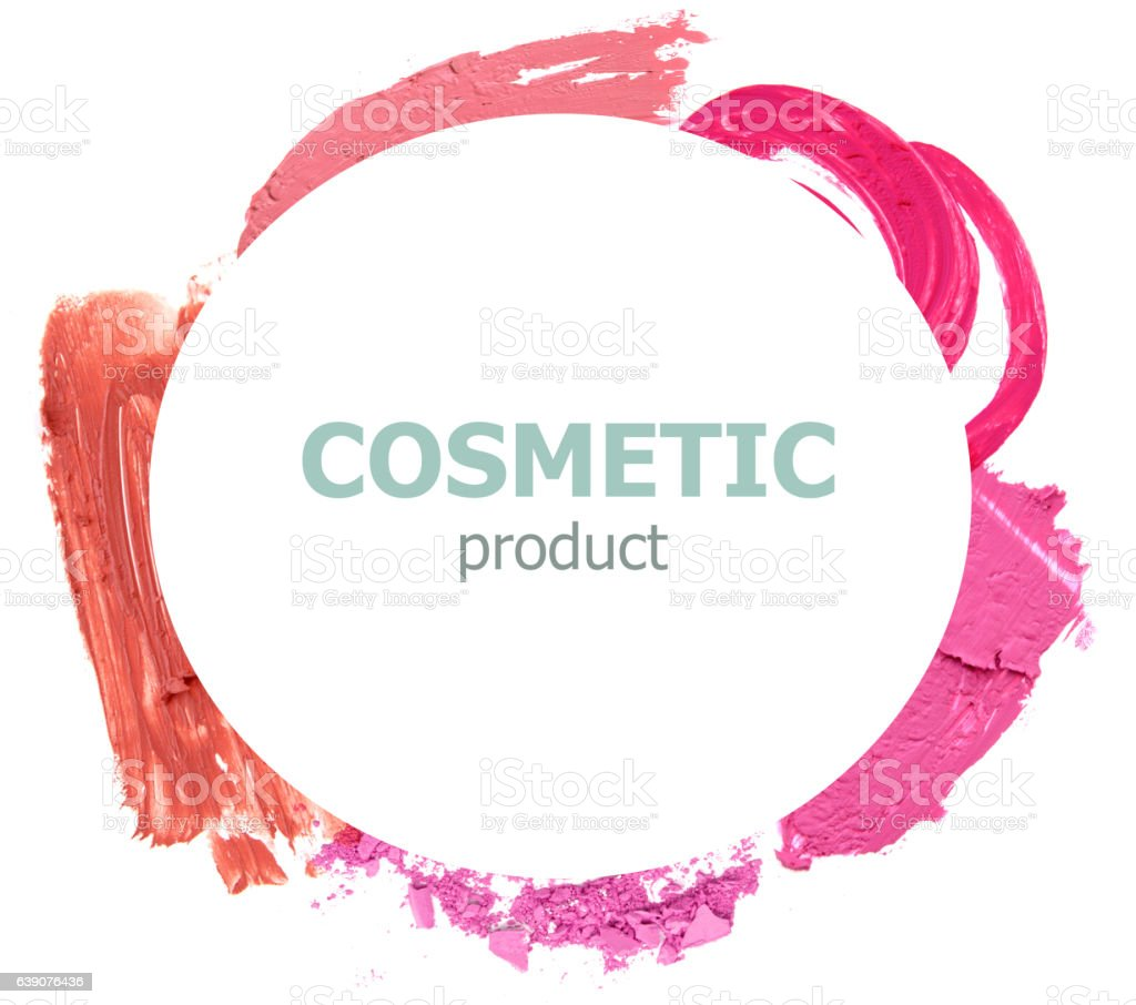 cosmetic promotion frame stock photo