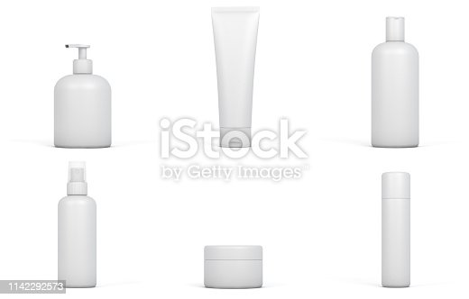Cosmetic set. Digitally generated image isolated on white