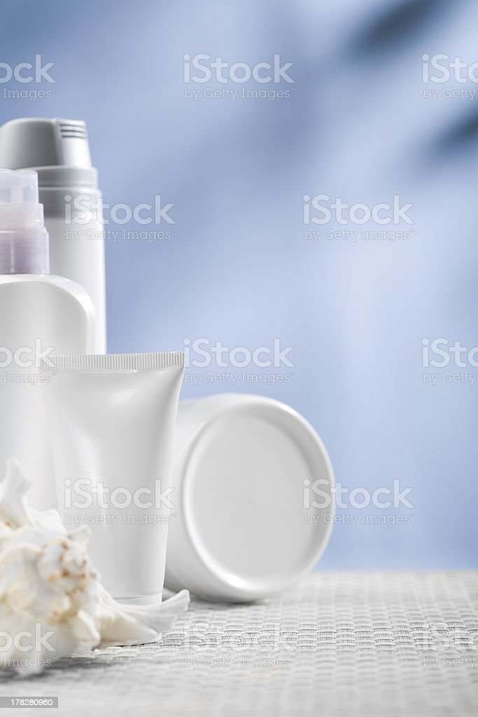 cosmetical tube and bottles royalty-free stock photo