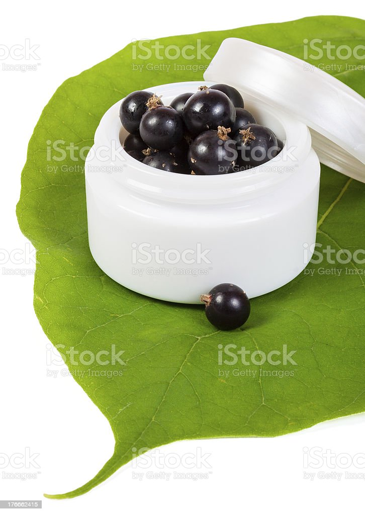 cosmetics black currant royalty-free stock photo