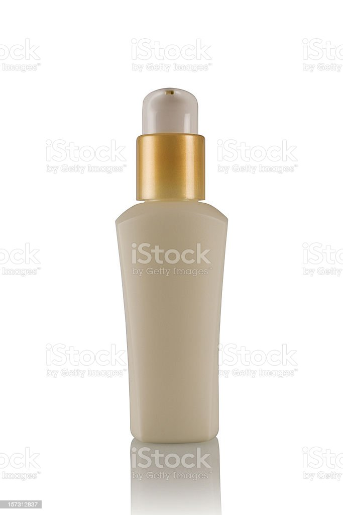 Cosmetics bottle (with clipping path) royalty-free stock photo