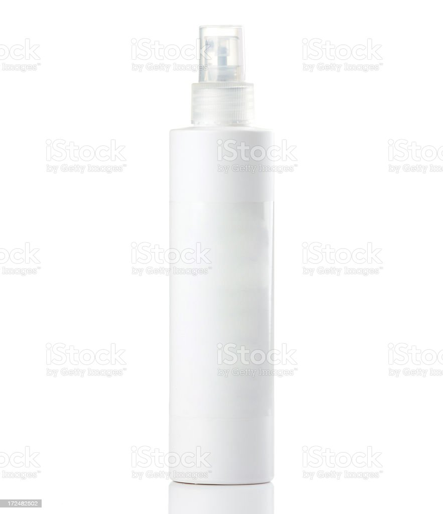 Cosmetics bottle stock photo